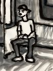 MBTA Orange Line (Man With Hands Folded) (2016)