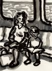 MBTA Orange Line (Mother and Son with Calvin and Hobbes Book) (2016)